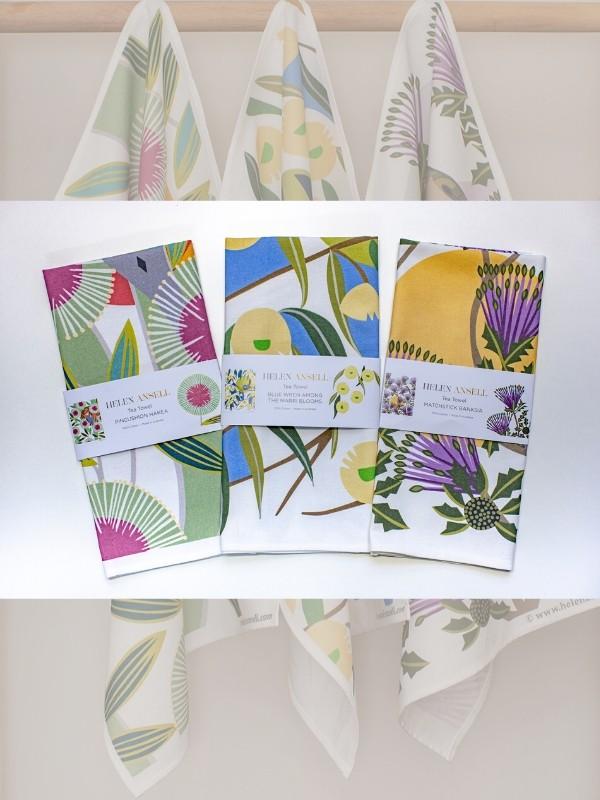Helen Ansell Tea Towels set of 3